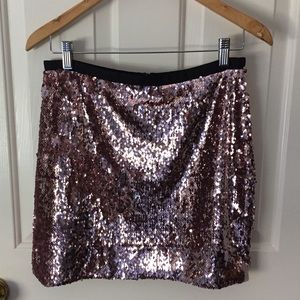 Pink Sequins TopShop Skirt
